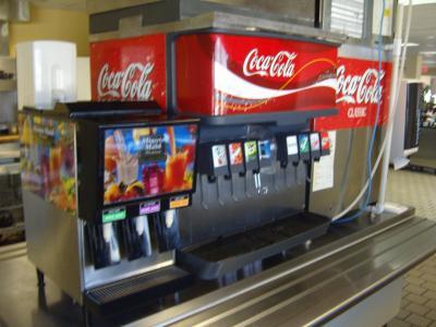 Fontaine a coca cola